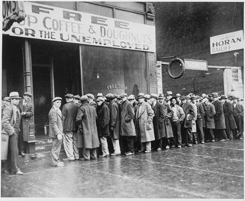 Queues of unemployment 1930s
