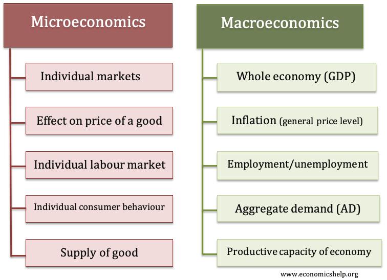 Difference Between Microeconomics And Macroeconomics Economics Help